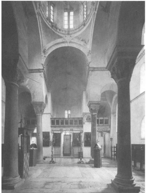 Theotokos of Hosios Lucas monastery. Interior, 1040