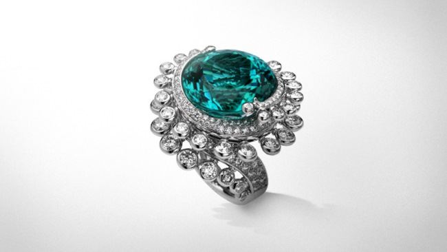 Tourmaline Rings on Tourmaline Ring L Atlantide Collection