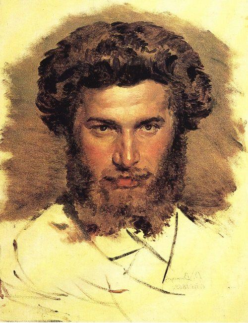 Vasnetsov. Portrait of Arkhip Kuindzhi