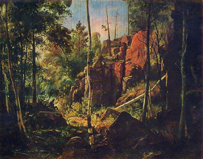 View of the island of Valaam. 1859