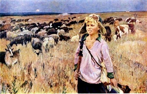 Vitya-shepherd boy, 1951