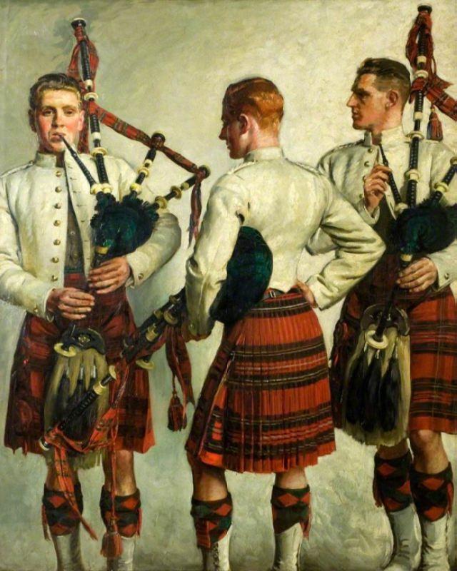 William Bruce Ellis Ranken. Pipe Practice, 1918. Museum Dundee