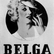 Advertising poster for cigarettes Belga