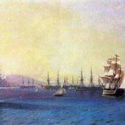Black Sea Fleet in Feodosia. 1890