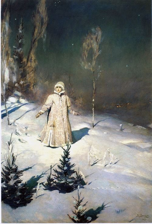 Fairy tale paintings by Viktor Vasnetsov. Snegurochka.1899