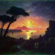 Neapolitan Bay in the moonlit night. 1842