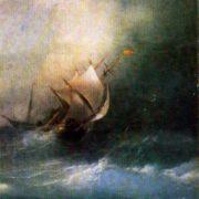 Storm in the Arctic Ocean. 1864