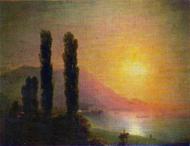 Sunrise on the coast of Yalta. 1864