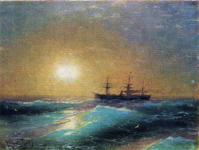 Sunset at the sea. 1886