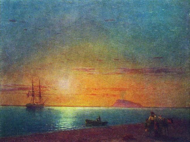 The sea shore. Farewell, 1868