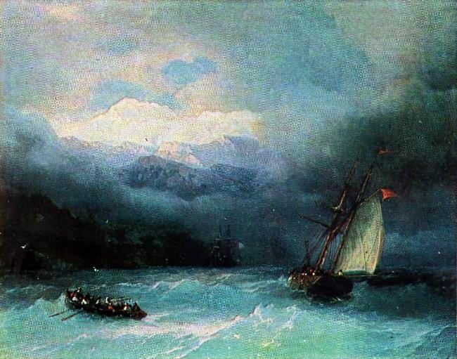 The stormy sea. 1868