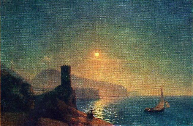 View of Vico near Naples. 1855