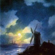Windmill on the shore. 1851