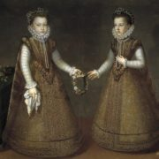 Alonso Sanchez Coello. Infantas Isabella Clara Eugenia and Catalina Micaela of Spain. 1575