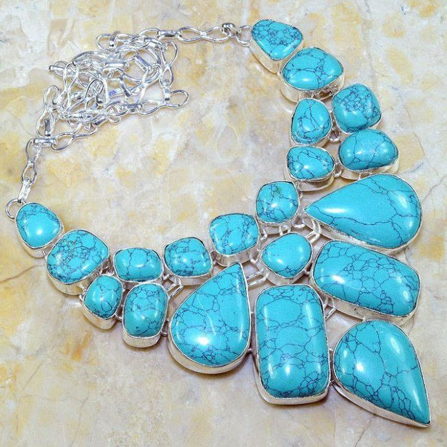 Awesome necklace with turquoise