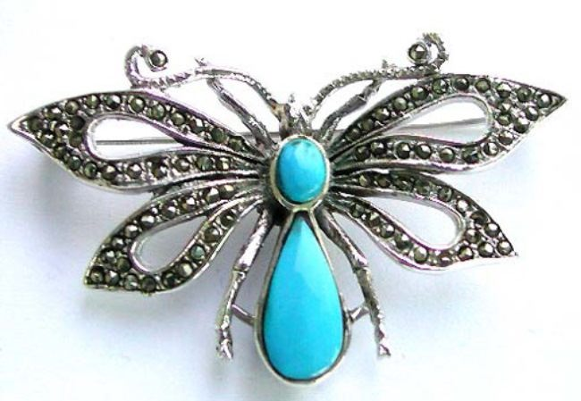 Butterfly with turquoise