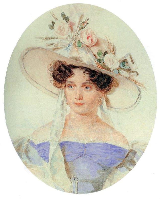 Chertkova Elena Grigorievna (1800-1832), nee Stroganova. The wife of Ivan Dmitrievich Chertkov
