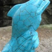 Dolphin made of turquoise