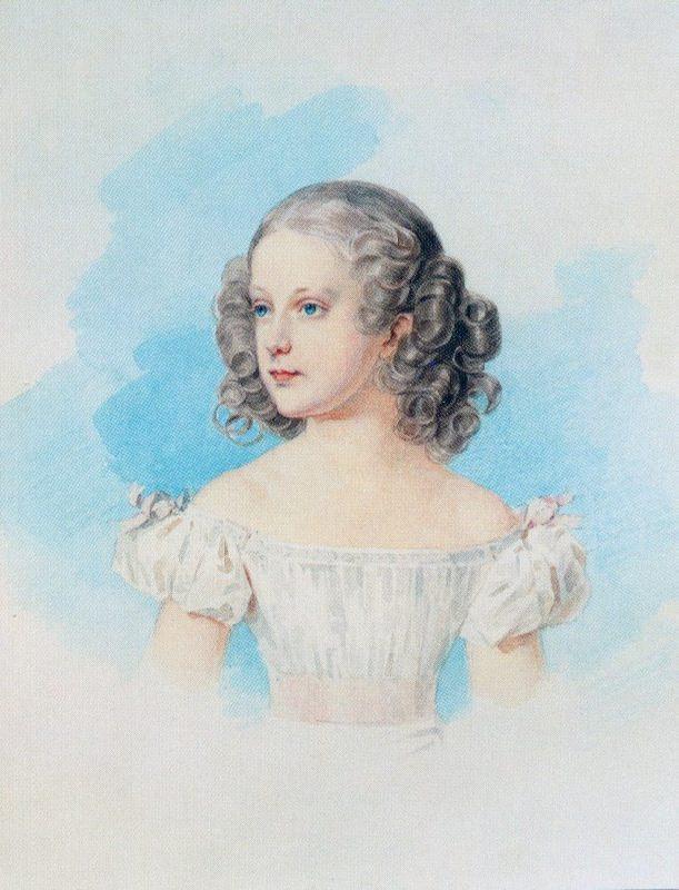 Grand Duchess Maria Nikolaevna. The end of the 1820s