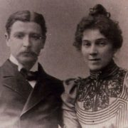 M.A. Vrubel and his wife N.I. Zabela. 1896