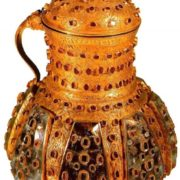 Mug with a lid. 16th - 17th century. Gold, rubies, emeralds