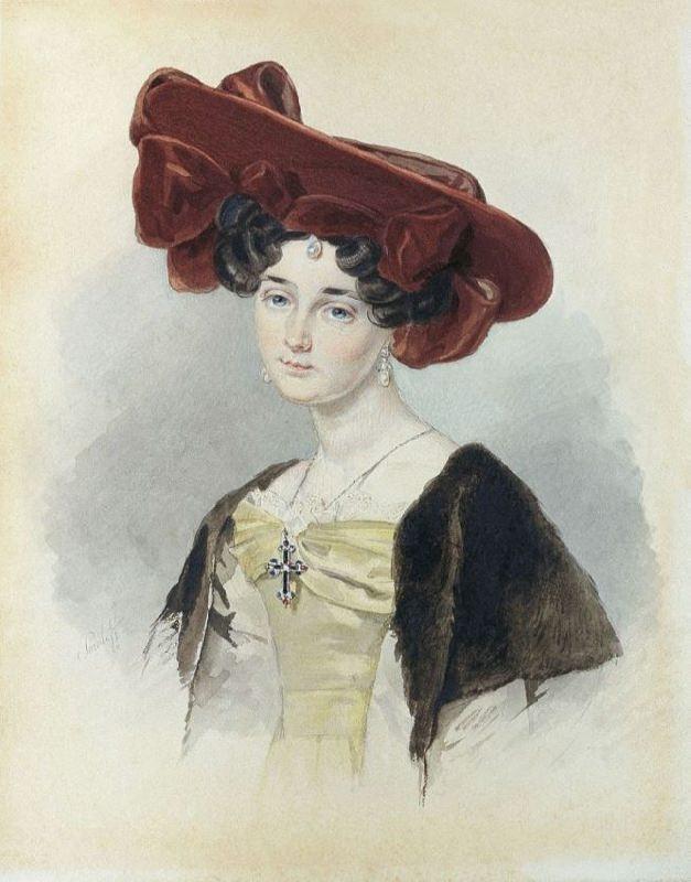 Portrait of Baroness Alexandra Nikolaevna de Malvirad (1802-1891)