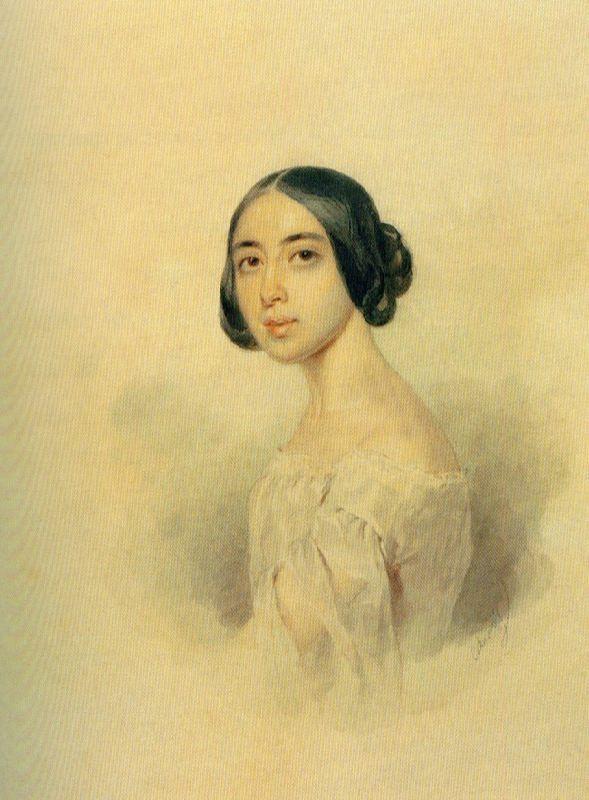 Portrait of Pauline Viardot. 1844