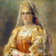 Portrait of Princess Zinaida Nikolaevna Yusupova in Russian costume