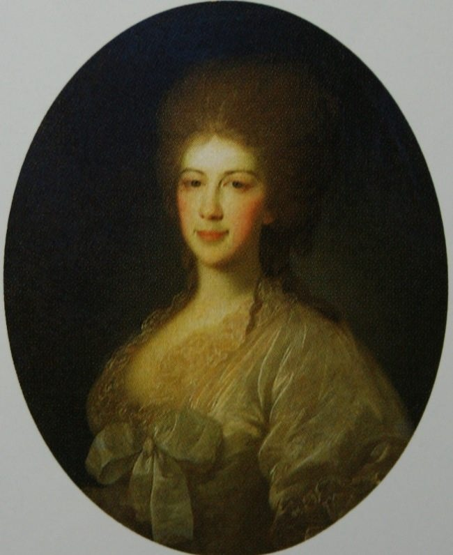 Portrait of an Unknown Woman in a White Dress. The second half of the 1780s