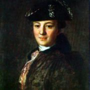 Portrait of an unknown man in a cocked hat. 1770s - 1780s. The State Tretyakov Gallery
