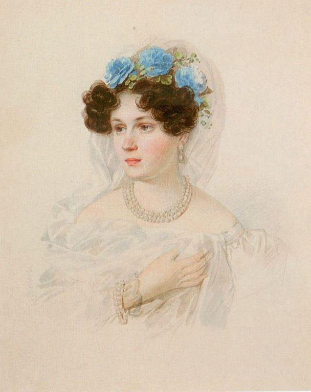 Princess Adelaide Pavlovna Golitsyna (1799-1882), nee Stroganova. 1821