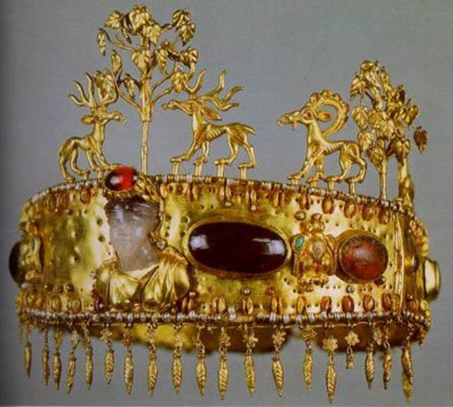 Sample of Sarmatian art of the 1st century AD. Priestess's Diadem