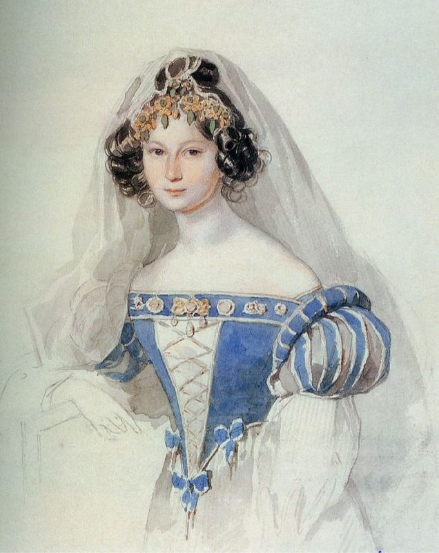 Sofya Vladimirovna Komarovskaya (1808-1876), the sister of the poet D.V. Venevitinov