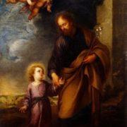 St Joseph Leading the Christ Child