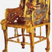 The golden throne of Tutankhamun