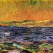 The island of Elba. Tyrrhenian Sea. Etude. 1894