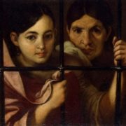 Two Women Behind a Grille