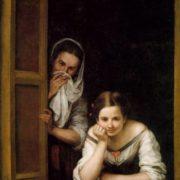 Two women in the window