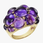 Wonderful ring with amethyst