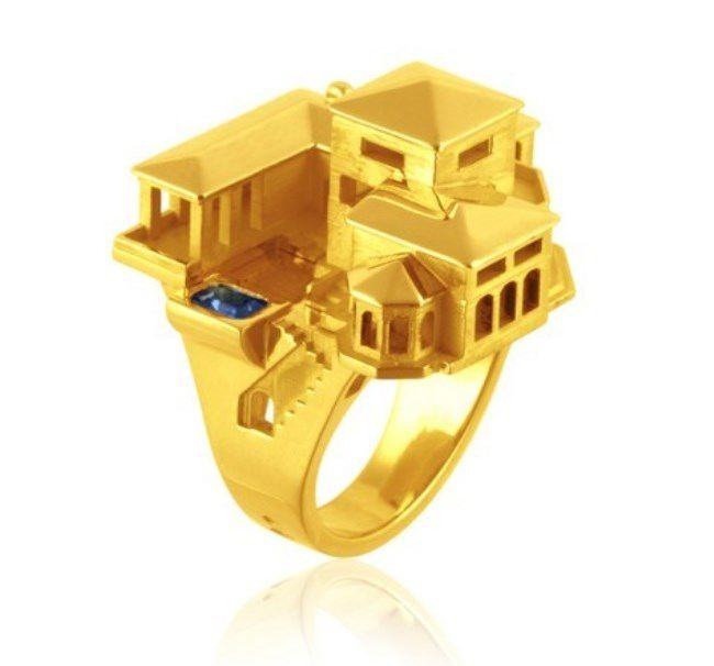 Astonishing ring by Philippe Tournaire
