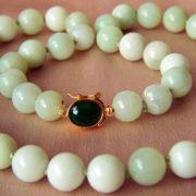 Beautiful nephrite necklace