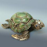 Beautiful nephrite turtle