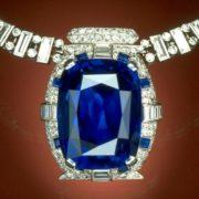 Bismark necklace with sapphire