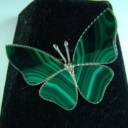 Butterfly, malachite