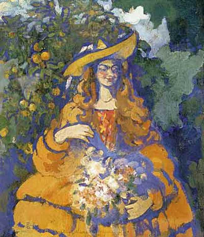 Columbine. 1910-1911. Canvas, tempera. State Tretyakov Gallery, Moscow