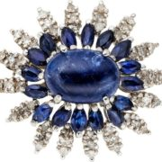 Cute brooch with sapphire