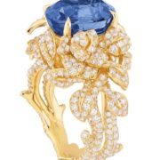 Dior ring with sapphire