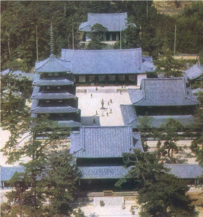 Ensemble of the monastery Horyuji near Nara. VII century