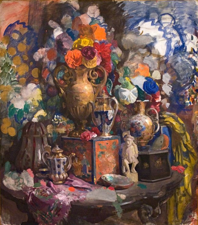 Flowers and porcelain, 1912, Russian Museum