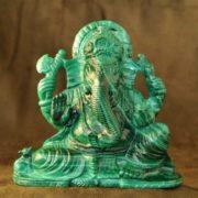 Ganesha - Indian god of wealth and abundance, malachite